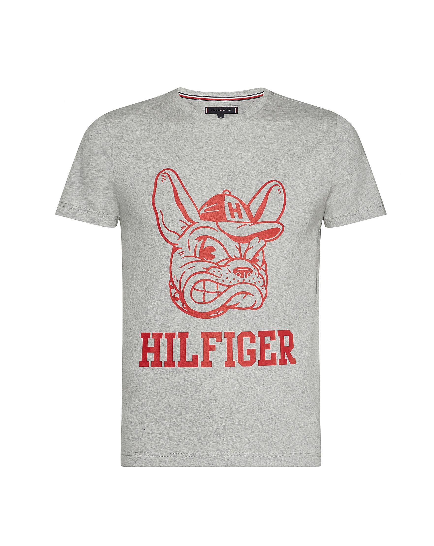 5cba019e6 Tommy Hilfiger Mighty Dog Logo T-Shirt | Jacamo