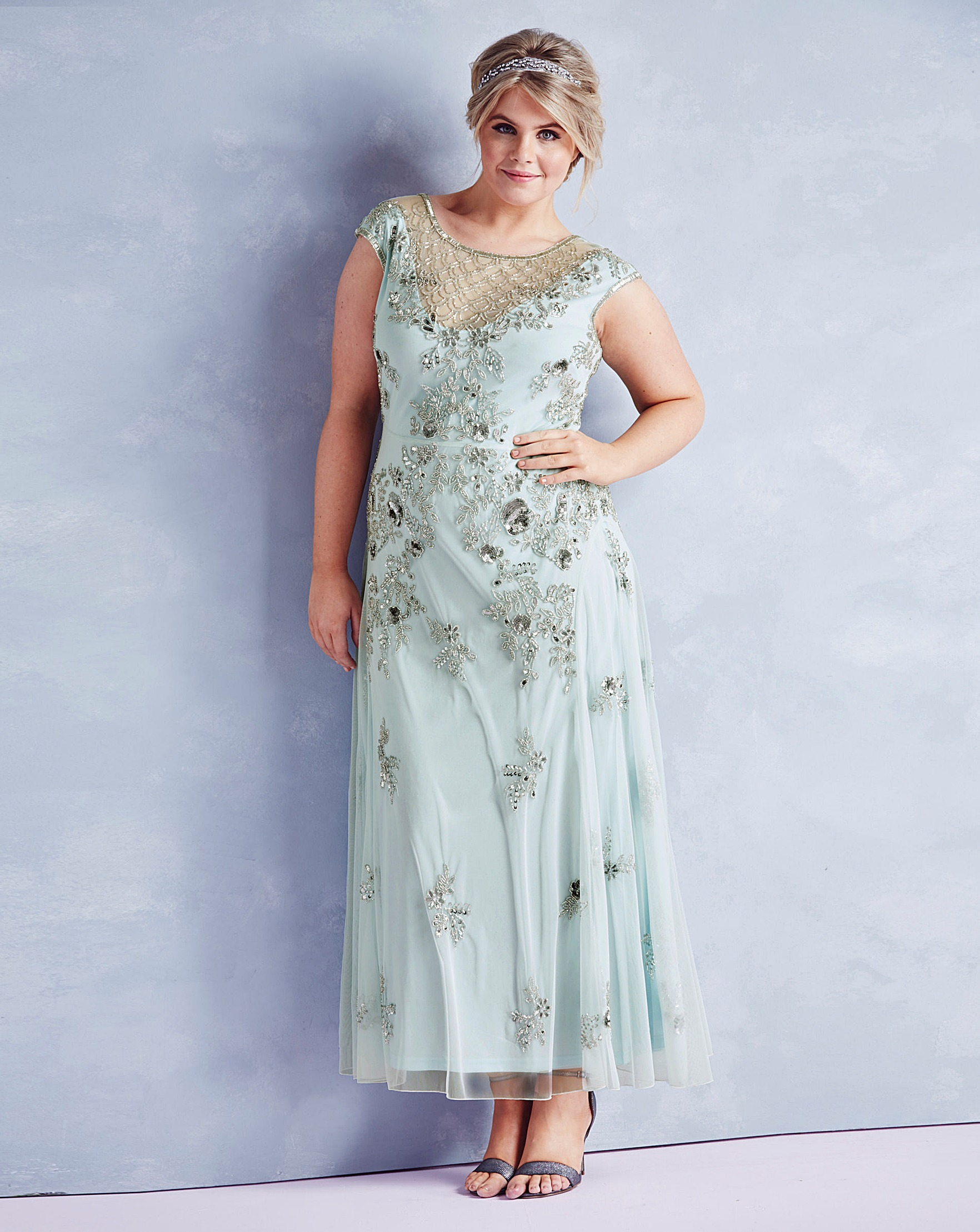 JOANNA HOPE Embellished Maxi Dress | Simply Be