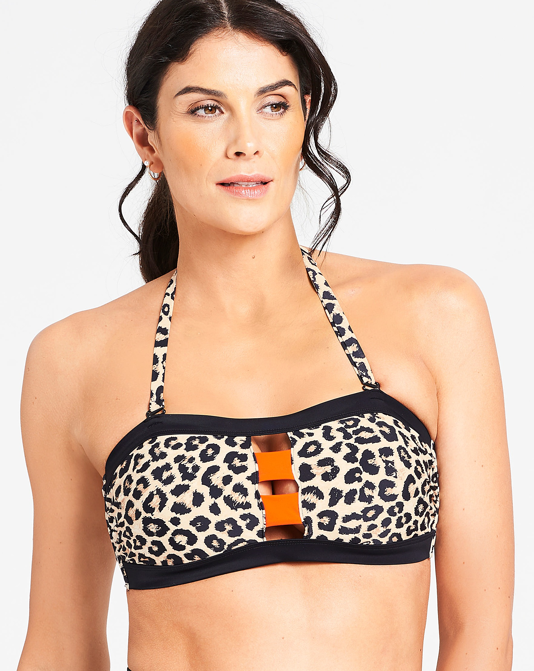 539cc0f12737 Animal Print Multiway Bandeau Bikini Top | J D Williams