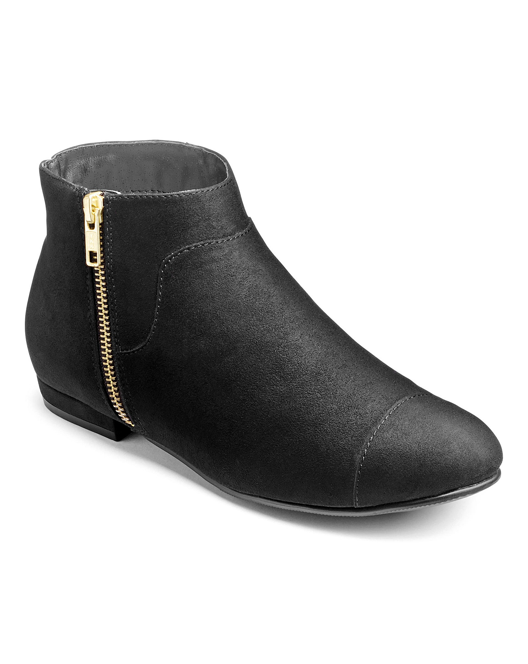62ebf521b3c Sole Diva Zip Ankle Boots Wide E Fit
