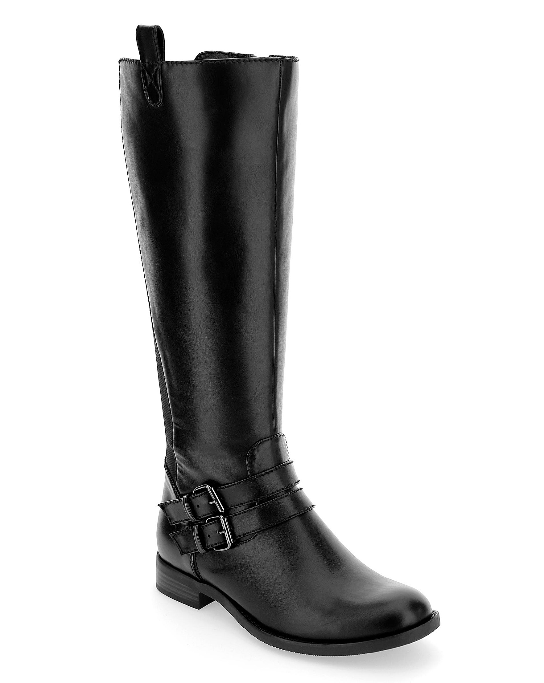 new york 42dea c5f4a Elastic Back Boots EEEEE Ex Curvy Plus