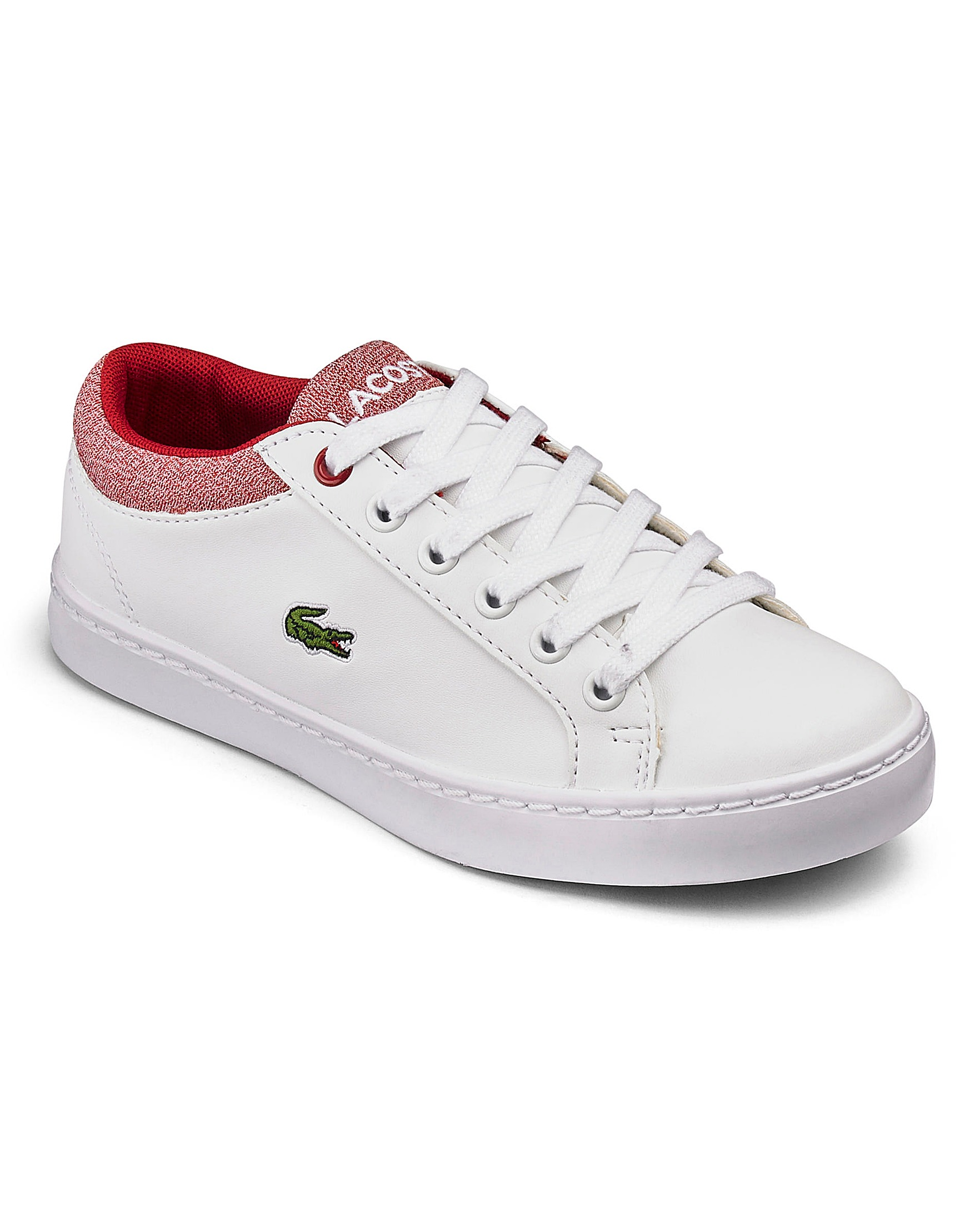 a3f4c0952be80c Lacoste Straightset Boys Junior Trainers