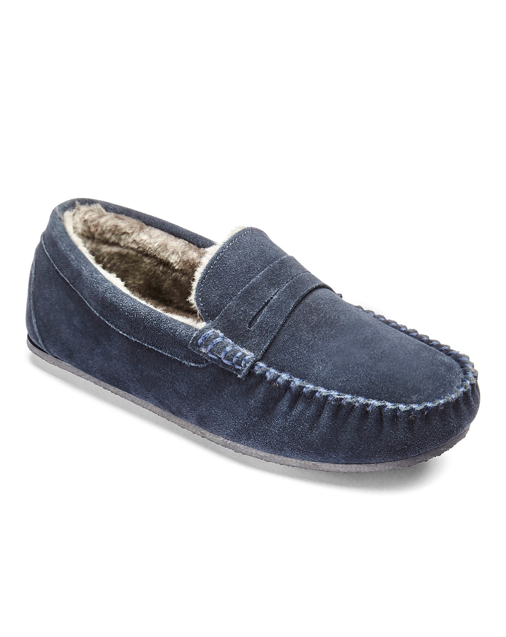 be7c262ad Suede Saddle Loafer Slipper | Oxendales
