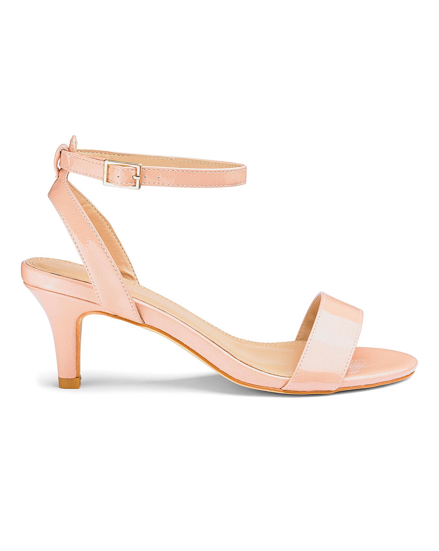 a285af0513d7 Kitten Heel Strappy Sandals E Fit