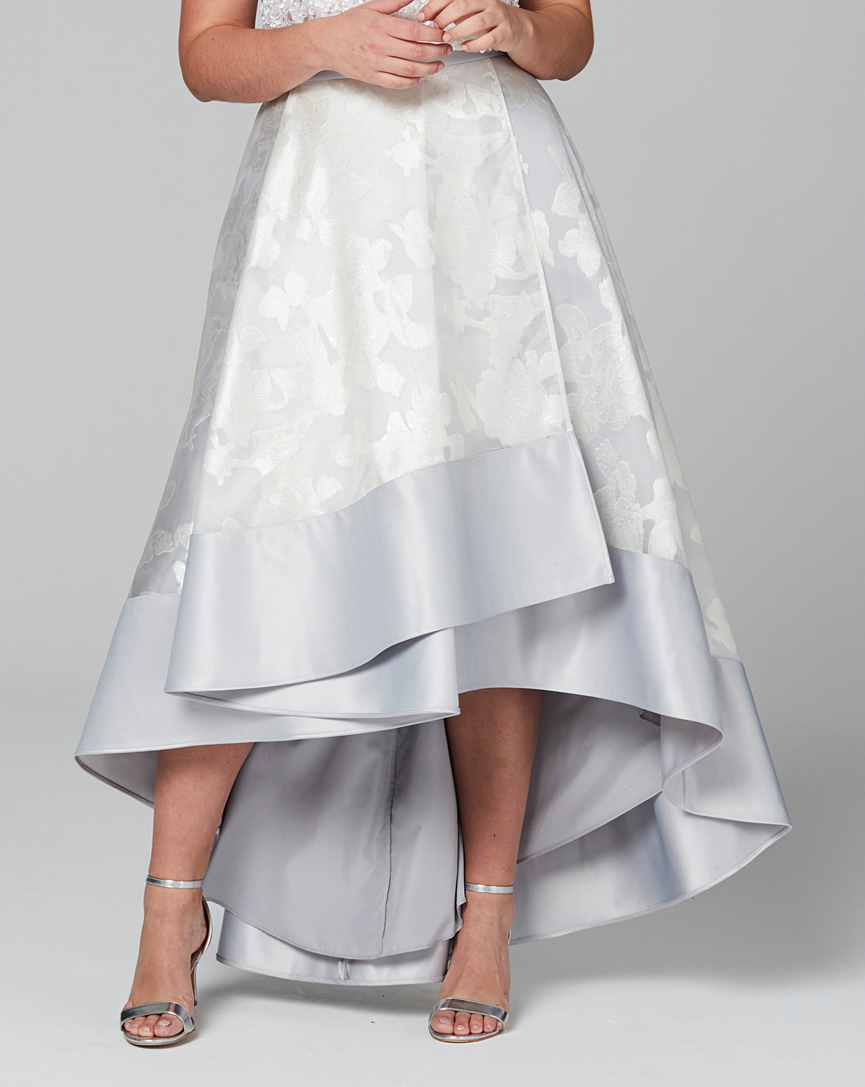 04a19d4d9 Coast Silver Floral Rhian Skirt | J D Williams