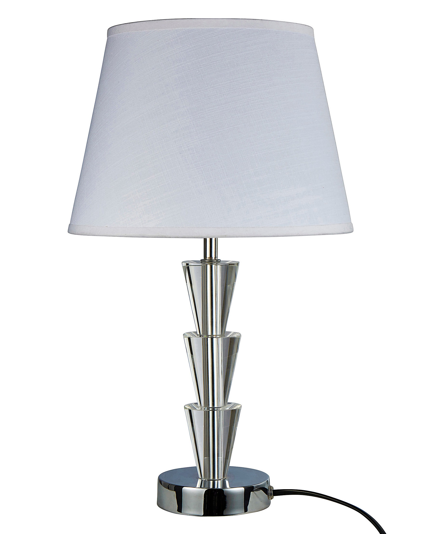 84640d87105b Florence 3 Tier Crystal Table Lamp | Fashion World