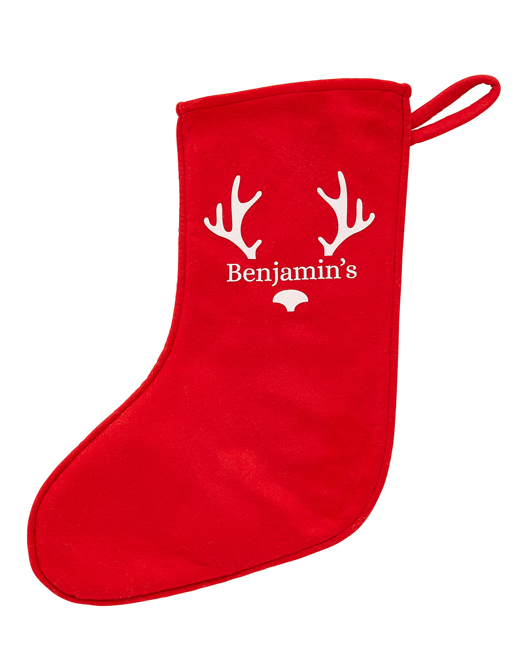 Red Christmas Stocking.Personalised Christmas Stocking