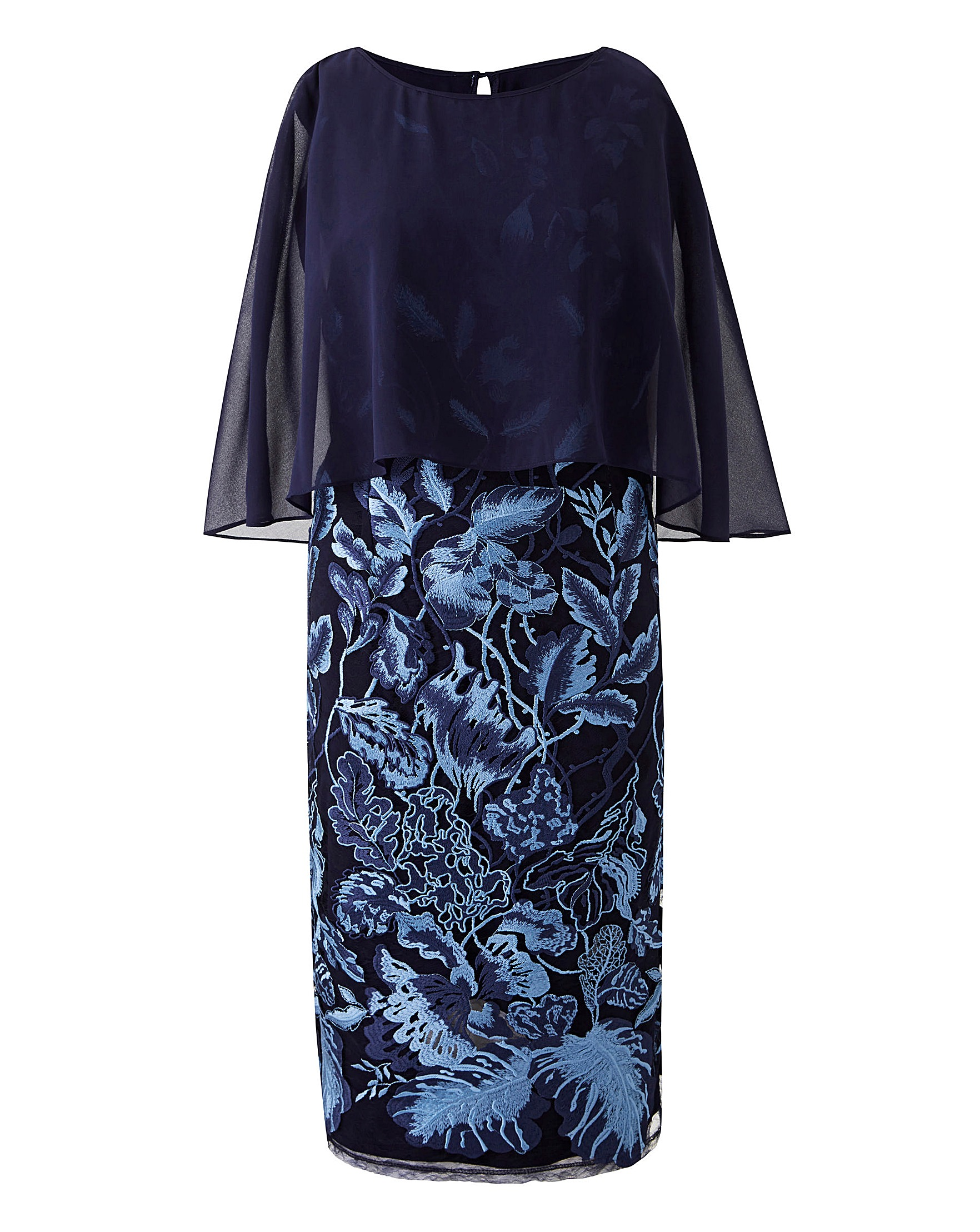 5ff6aa99cadc Nightingales Embroidered Overlay Dress