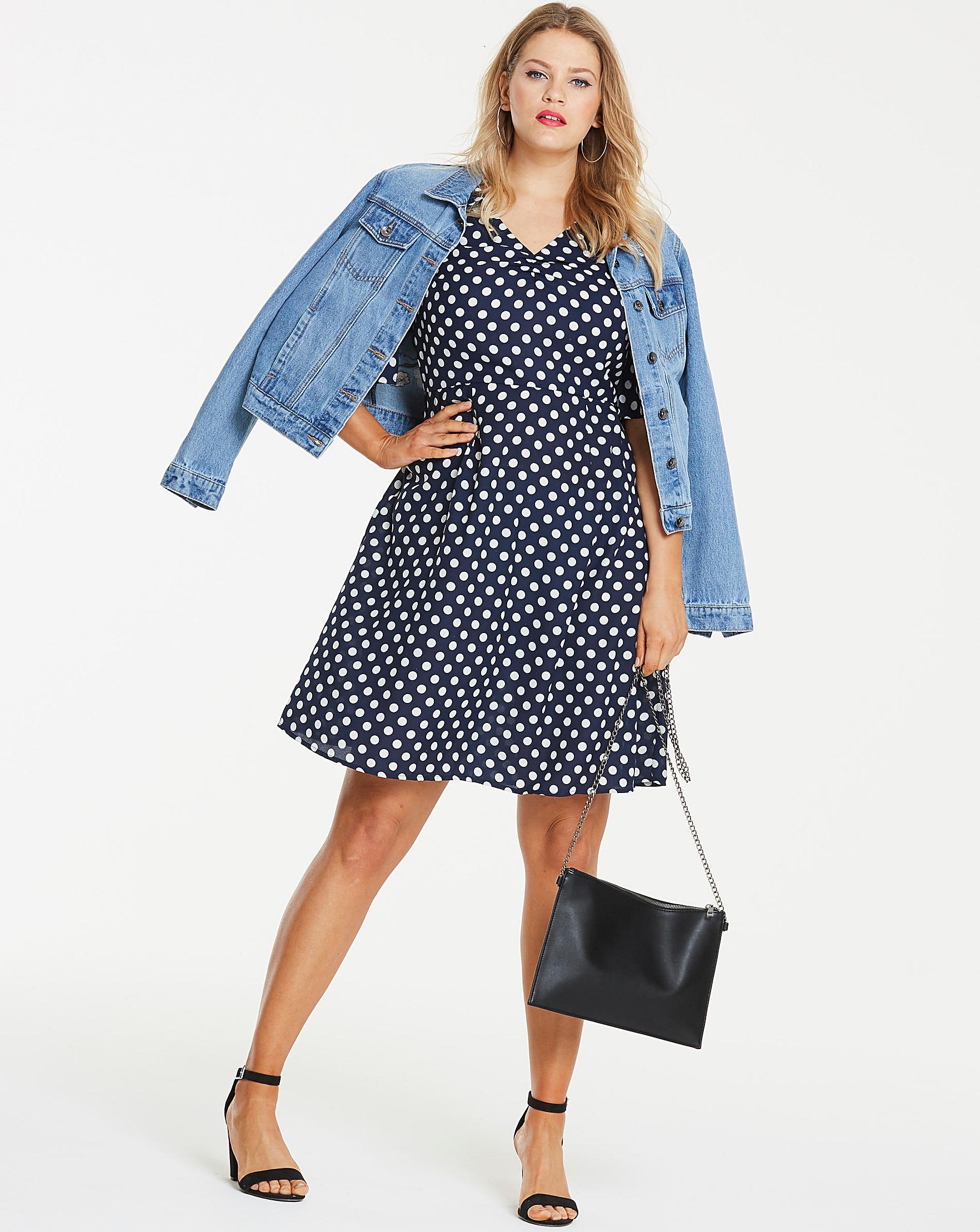 e5029fb510fb Spot Polka Dot T-Shirt Skater Dress