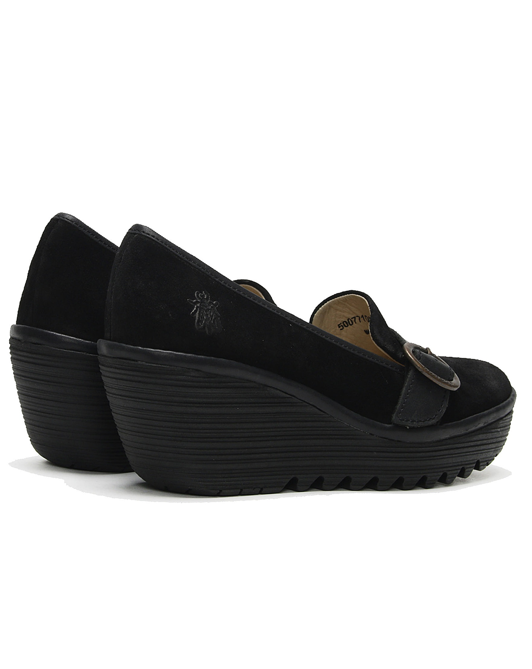 c70aa015897 Fly London Yond Suede Wedge Loafers