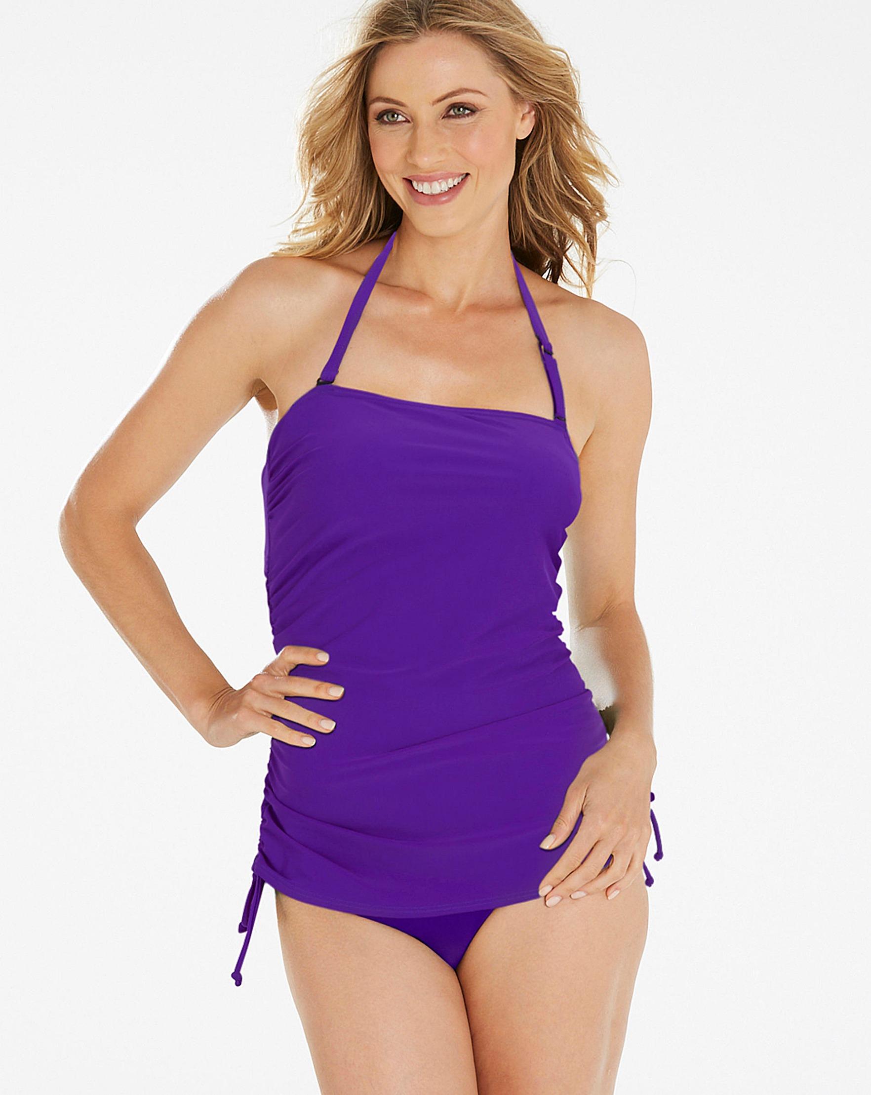 e479c8375ec7 Purple Bandeau Swimsuit | Oxendales