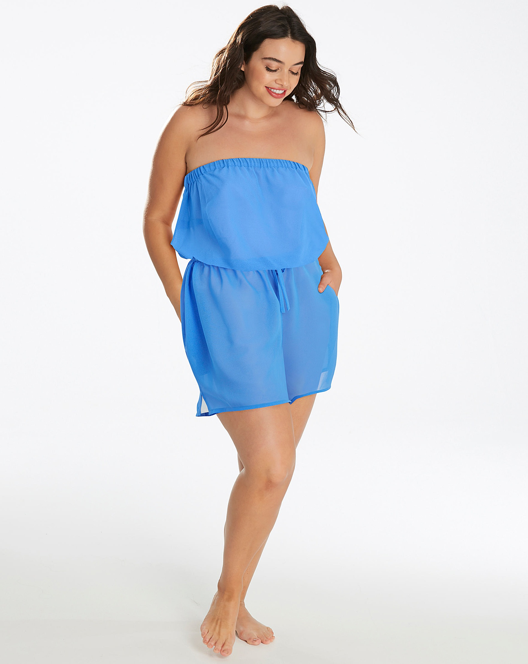 f5d284273dce Simply Yours Blue Beach Playsuit
