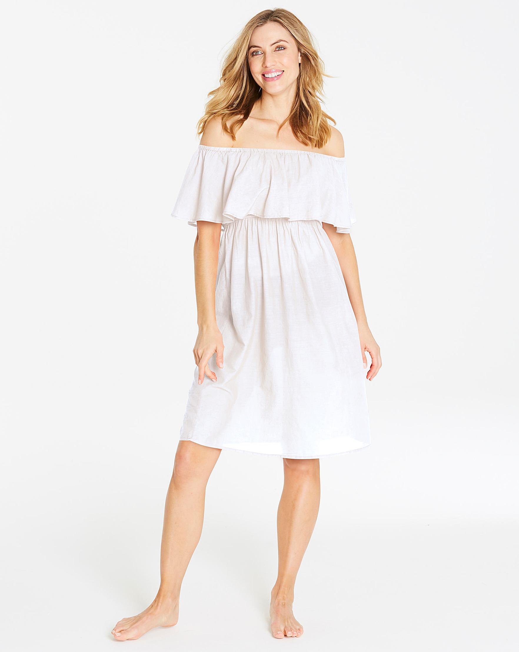 e98672137d96a Bardot White Beach Dress | J D Williams