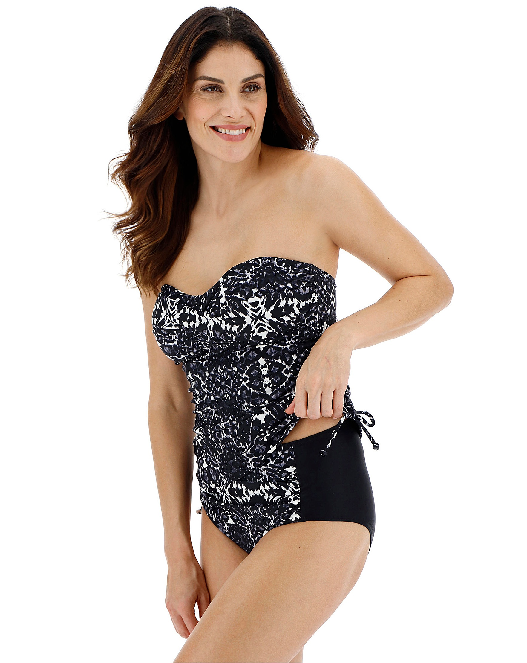 cd3cde86746 Magisculpt Bandeau Twist Front Shaping Tankini Top