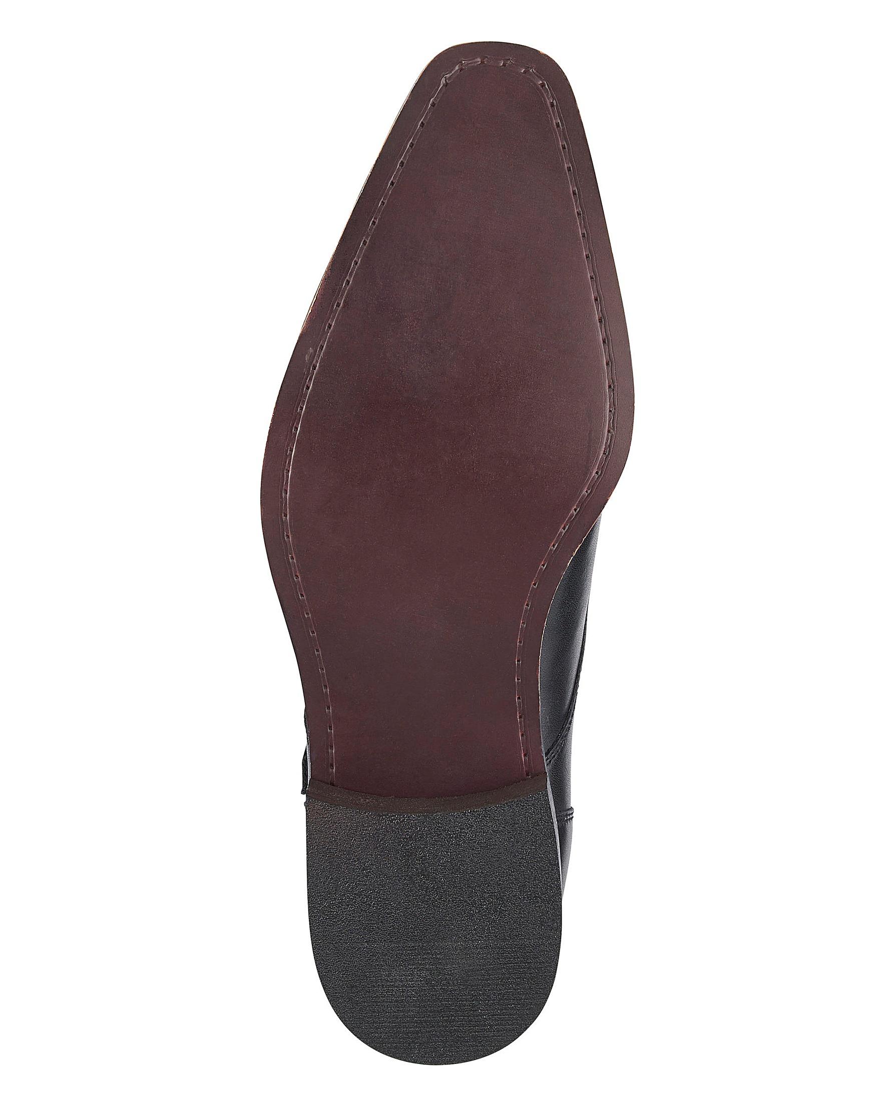 7d552d3853f4e Jacamo Premium Leather Double Monk Shoes | J D Williams