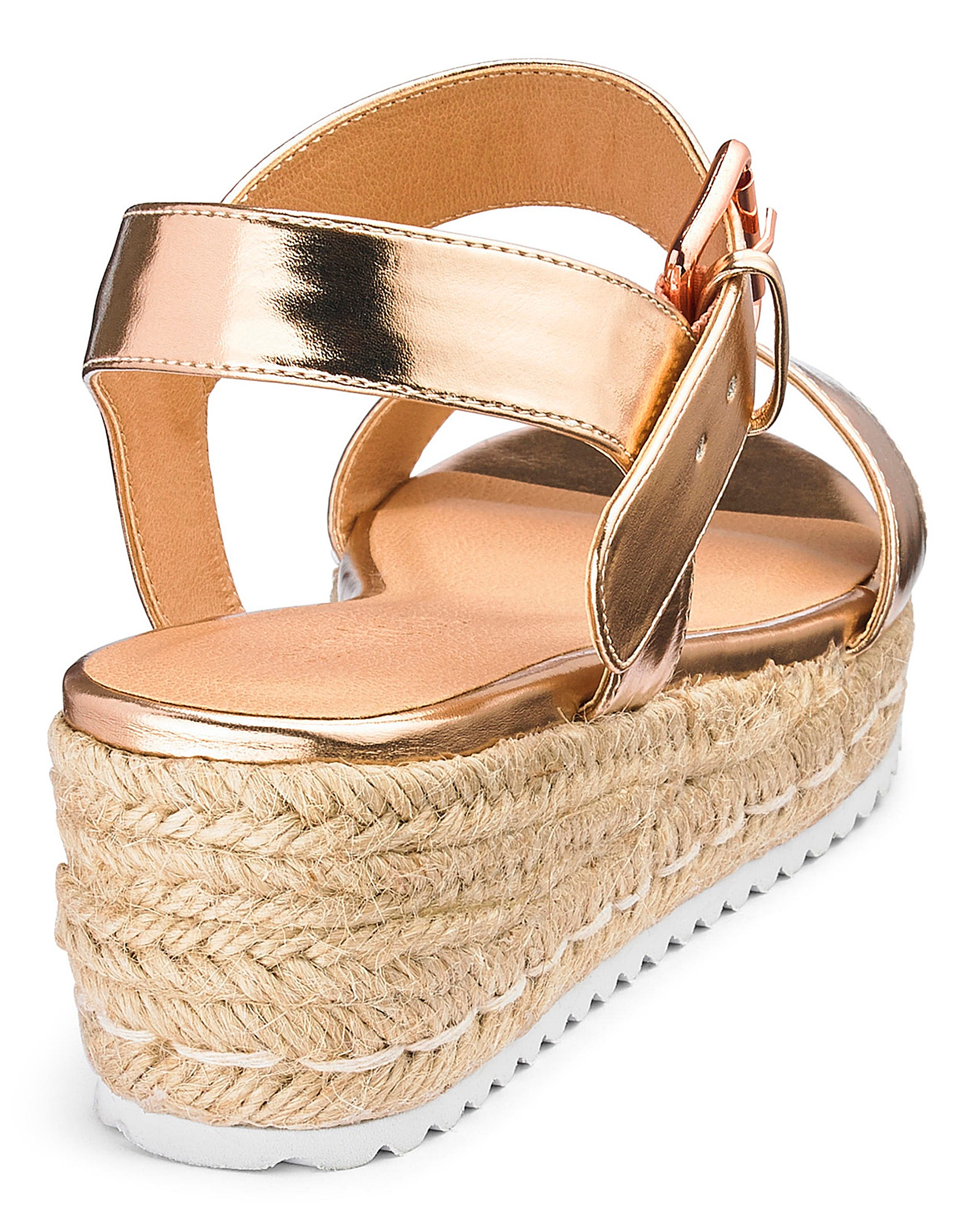 4b4454847144 Indra Espadrille Wedge Extra Wide Fit