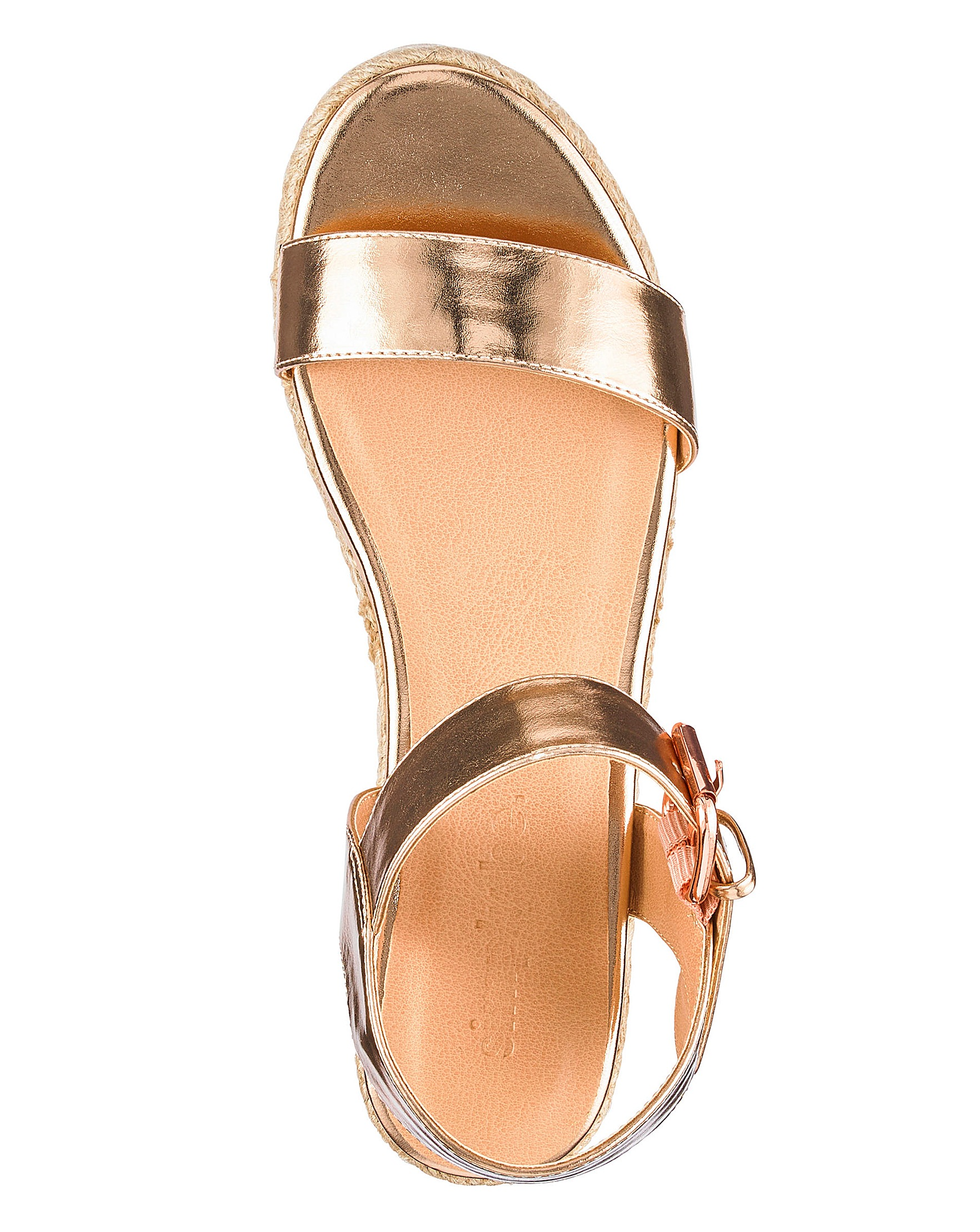 1758fbdde Indra Espadrille Wedge Extra Wide Fit | Simply Be