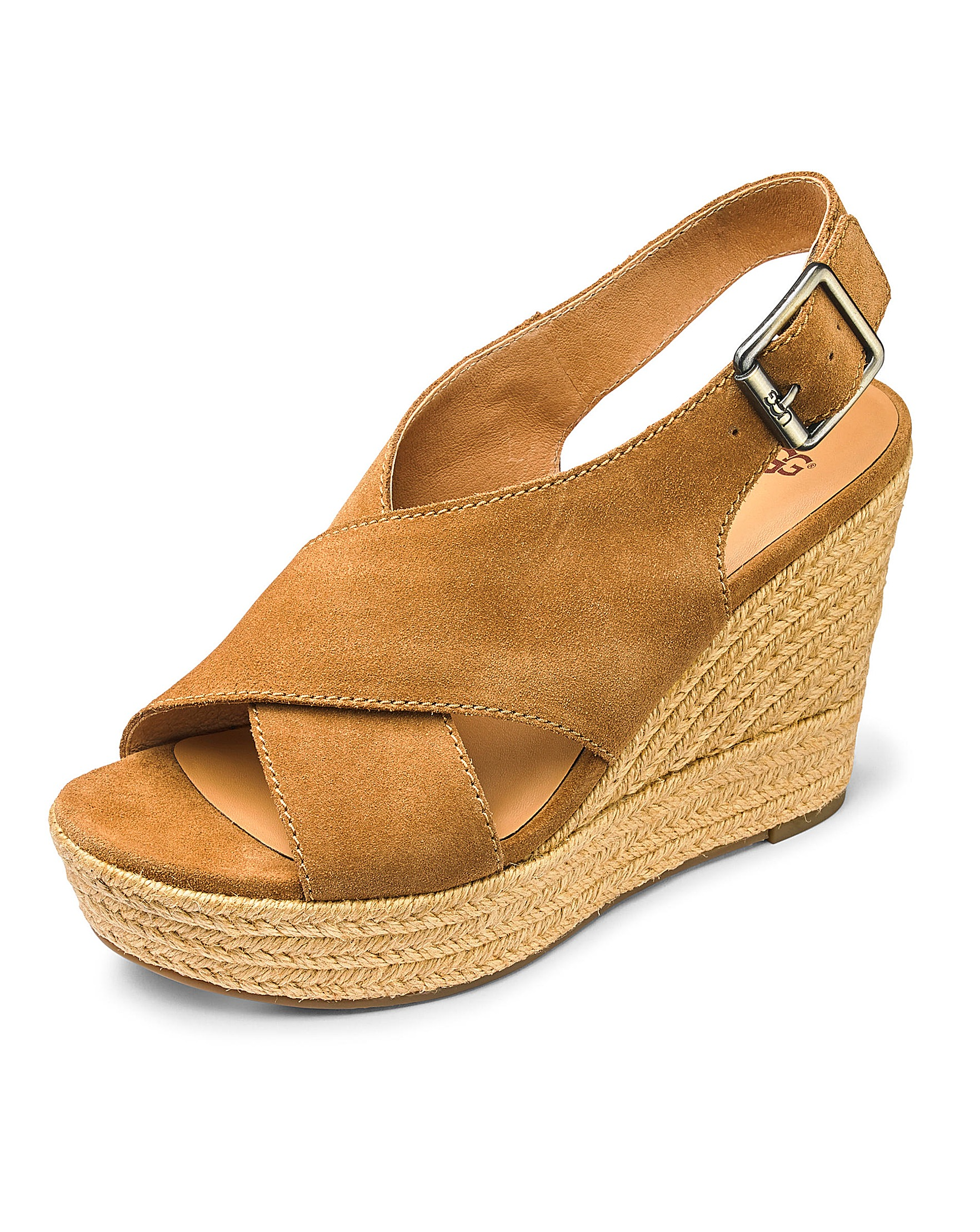 a5146eb2612 Ugg Harlow Suede Espadrille Wedge