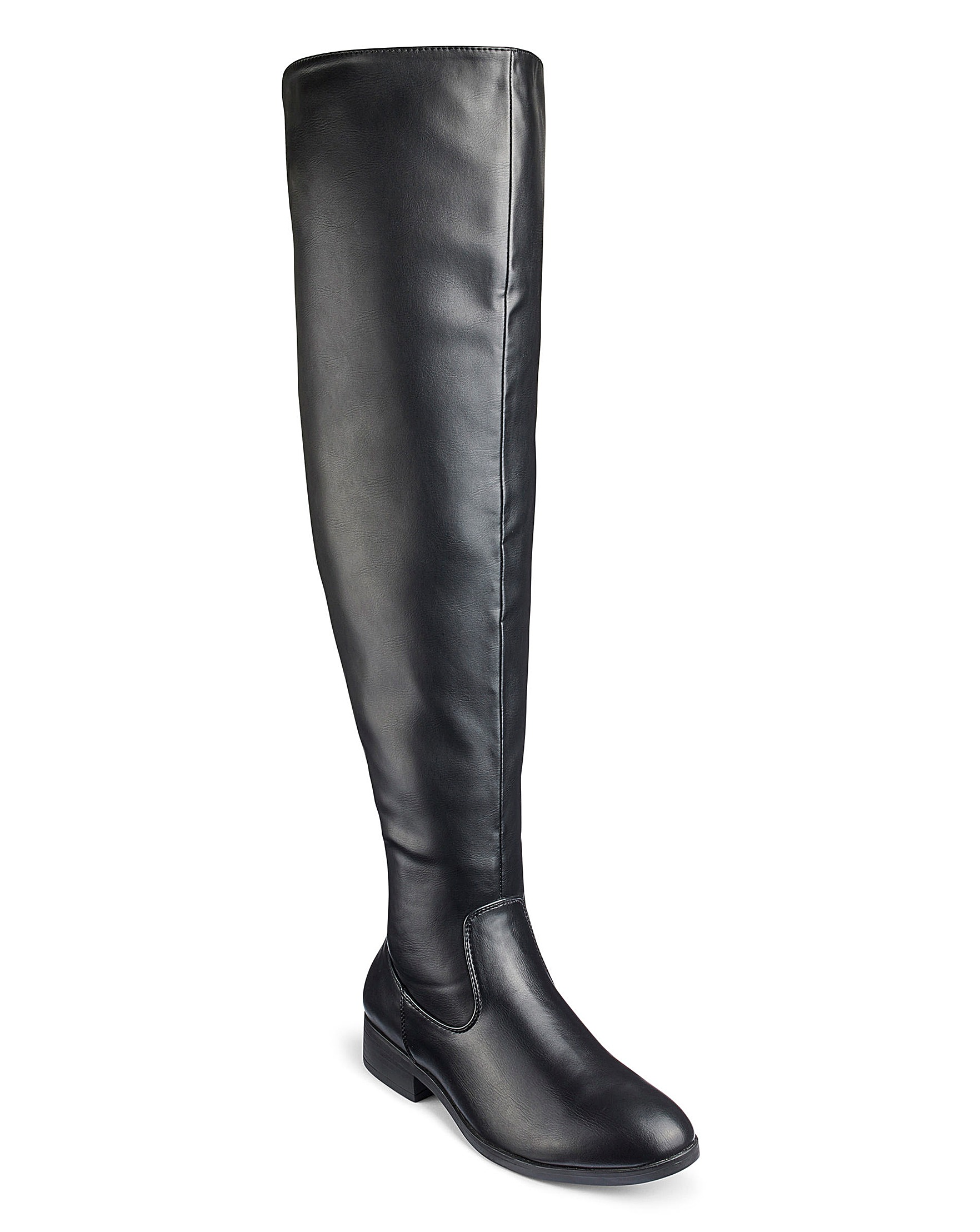 760a10c8e47 Ivy Over The Knee Boots Super Curvy Calf Wide E Fit