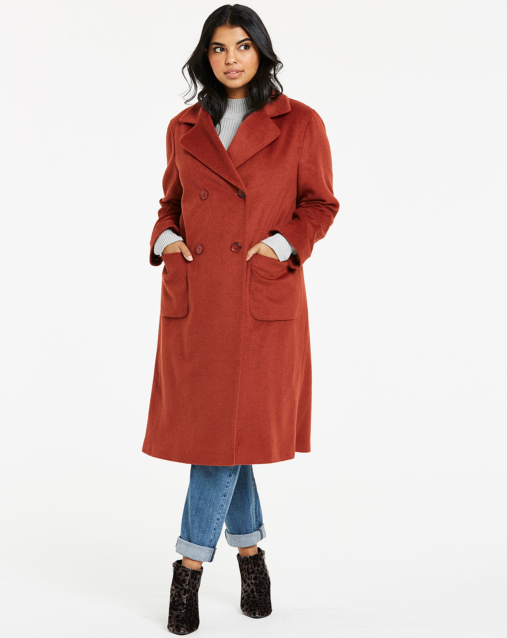 9de244a20e4 Helene Berman Double Breasted Coat