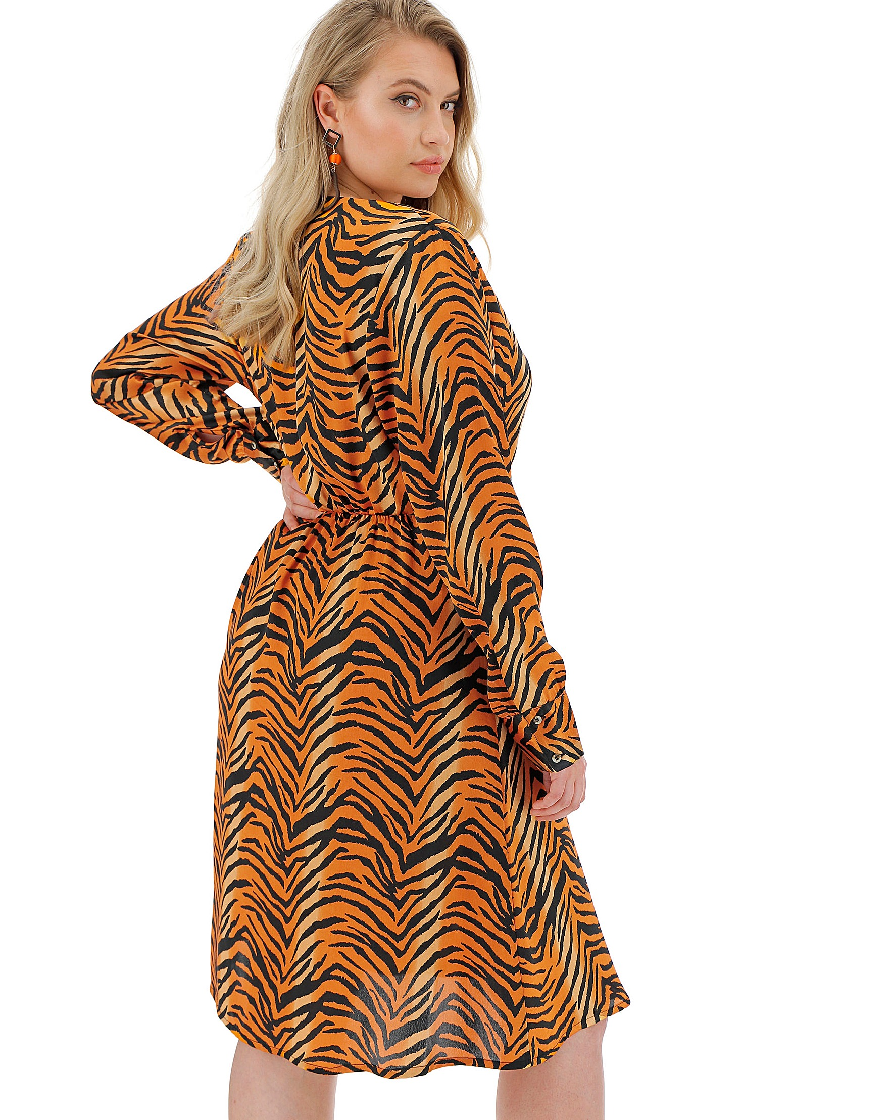 c1203ebfcf Tiger Print Wrap Dress | Simply Be