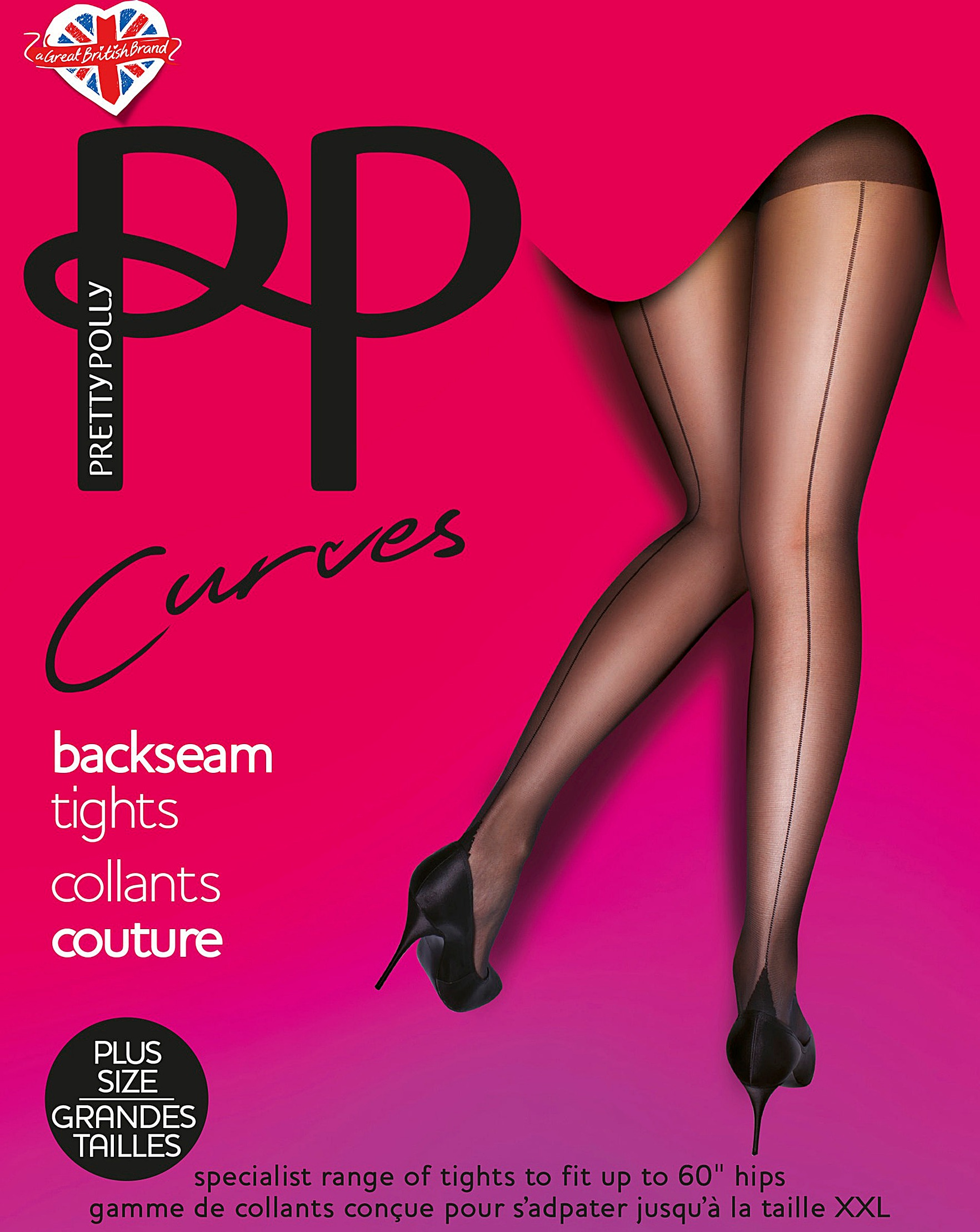 b1014f7d47bab Pretty Polly Curves Back Seam Tights | J D Williams