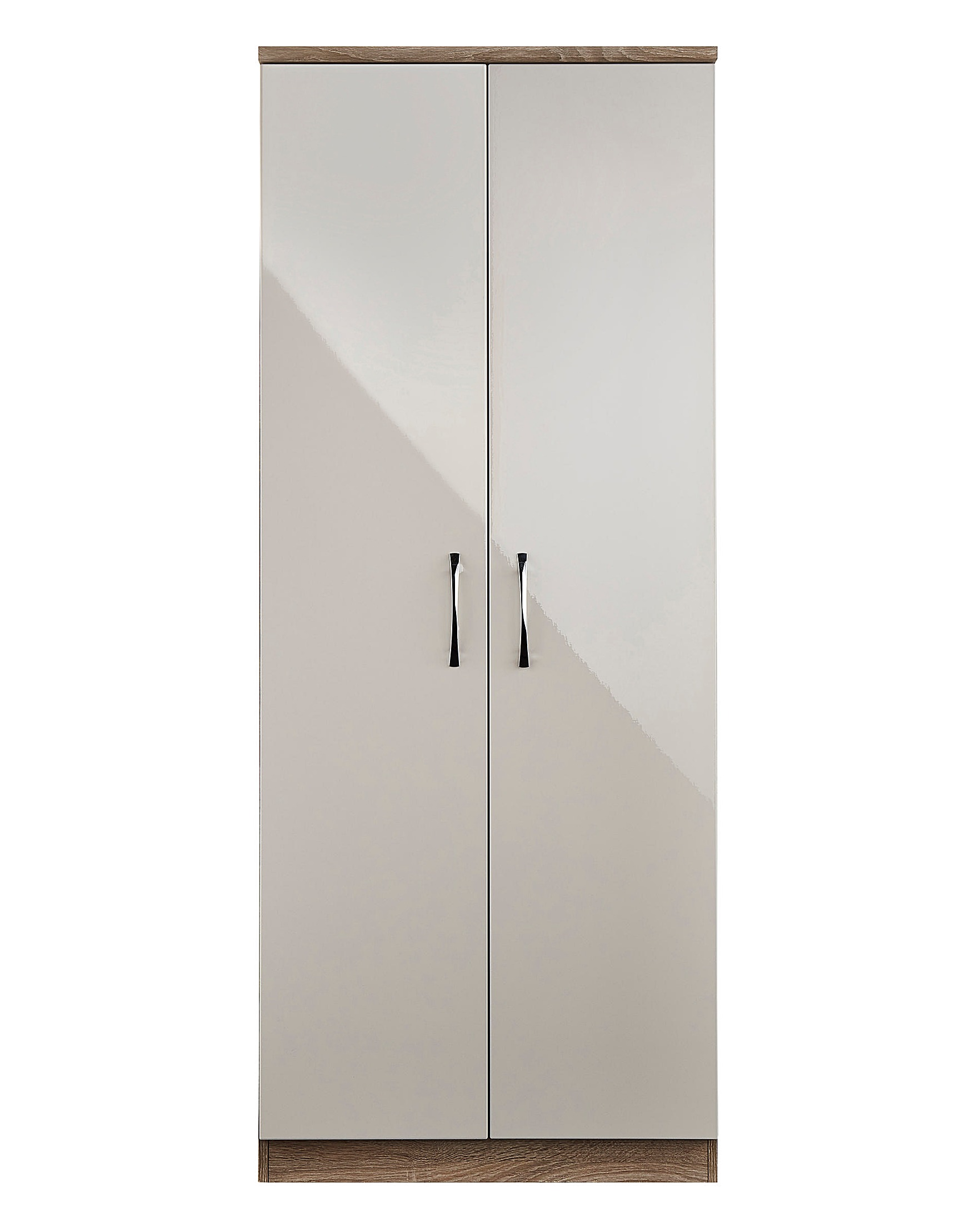 Sloane assembled high gloss 2 door wardrobe