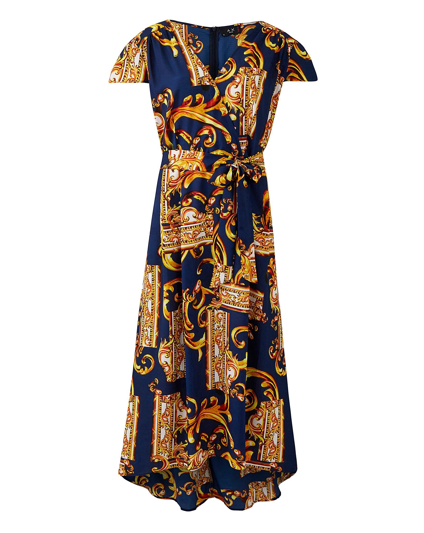 6edeac3cf79 Ax Paris Curve Scarf Print Maxi Dress