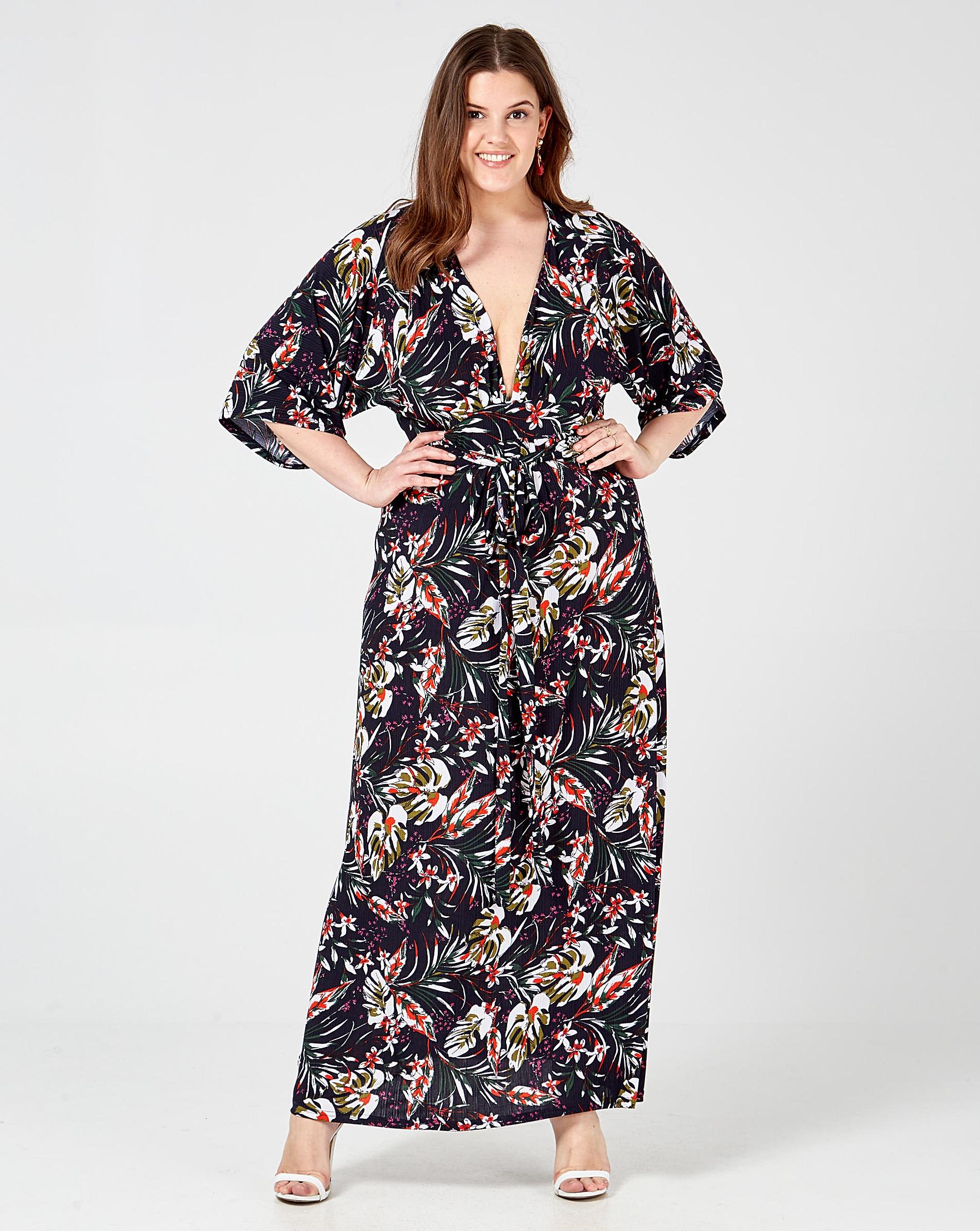 6952ea86d Blue Vanilla Curve Kimono Sleeve D | Simply Be
