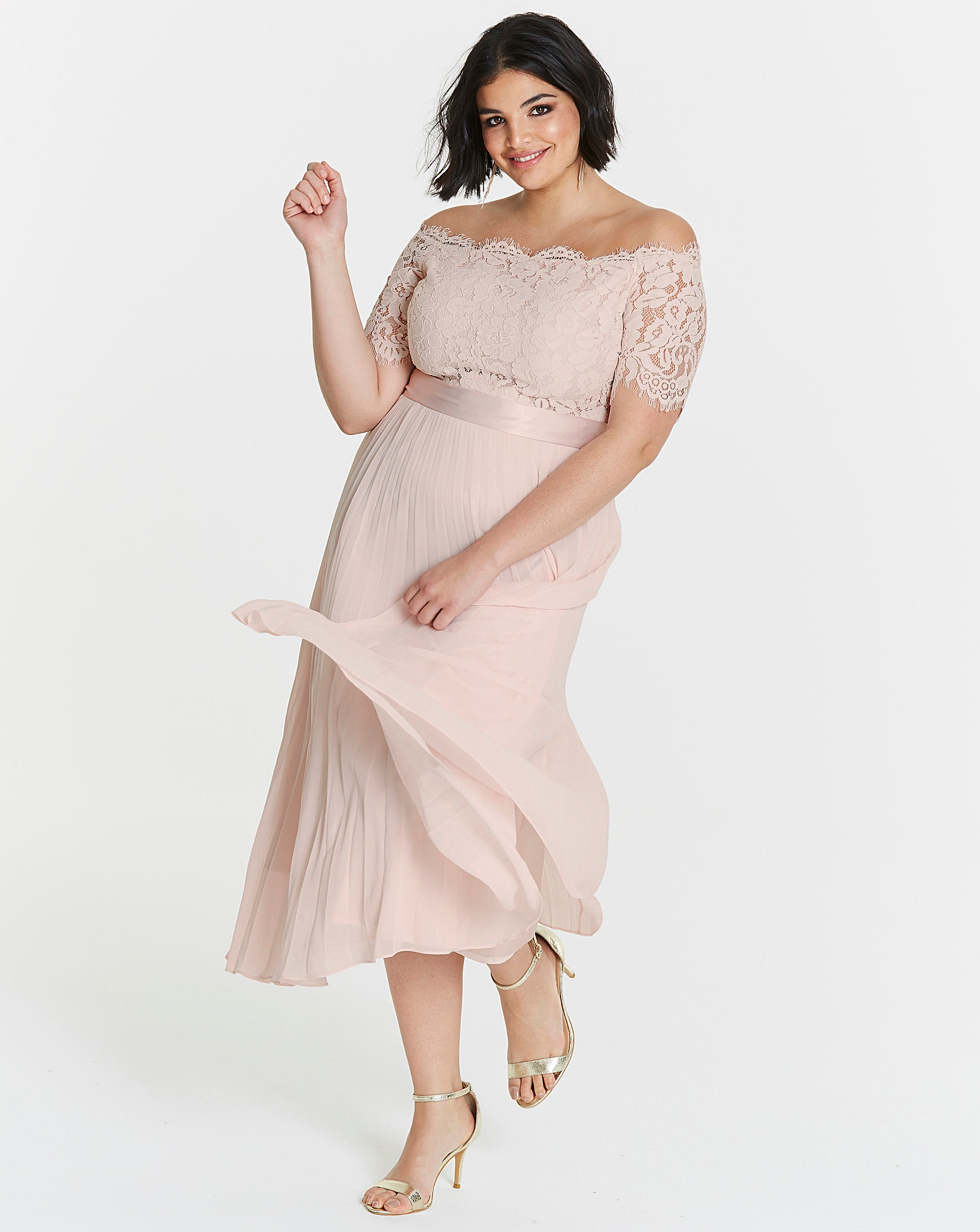 60a4a3877905 Coast Imi Lace Bardot Dress | Fashion World