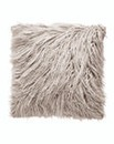 Silver Mongolian Faux Fur Cushion