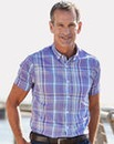 Purple Check Short Sleeve Shirt Regular