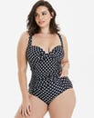 Polka Dot Non Wired Padded Tankini Top