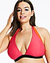 Pink/Orange Halterneck Bikini Top