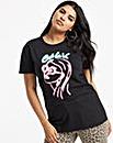 Cest Le Vie Neon Girl Slogan T-Shirt