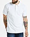 White Short Sleeve Polo Long