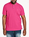 Hot Pink Short Sleeve Embroid Polo Long