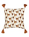 Deer Winter Scene Cushion