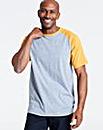 Mustard/Grey Raglan T-Shirt Long