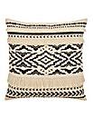 Fringe Black and White Cushion
