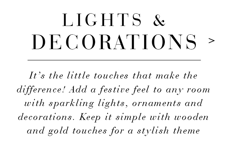 Lights & Decorations