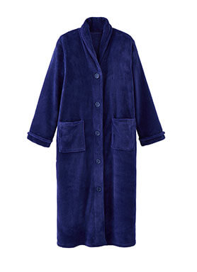 Button Fleece Robe