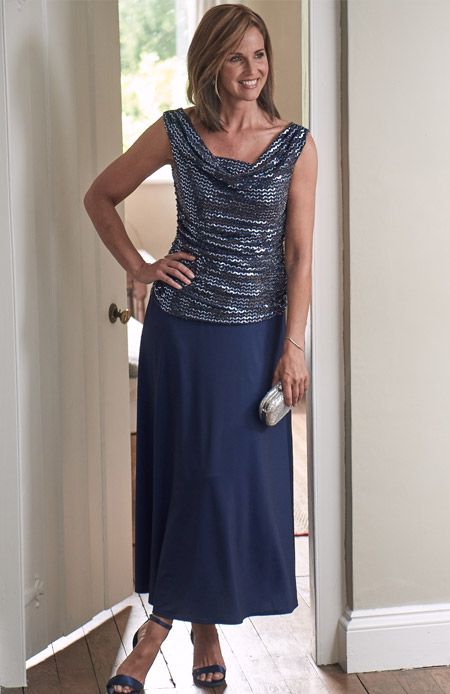 ruffle sleeve lace midi dress