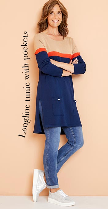 Longline tunic with pockets