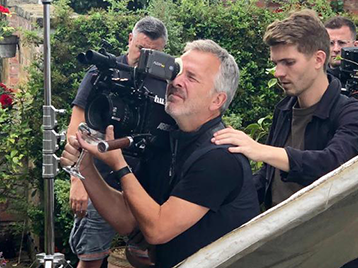 Man filming - behind the scenes