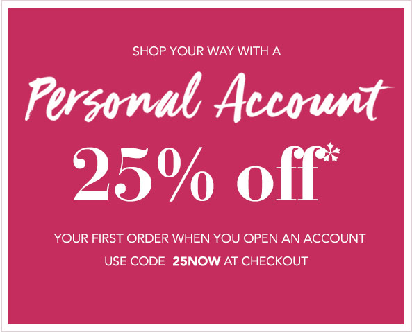 25% off with a personal account
