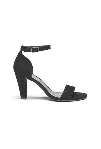 Black flexi sole sandals