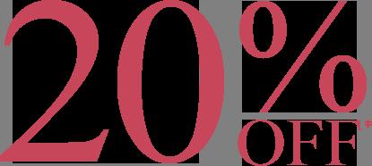 20% Off Big Summer Sale