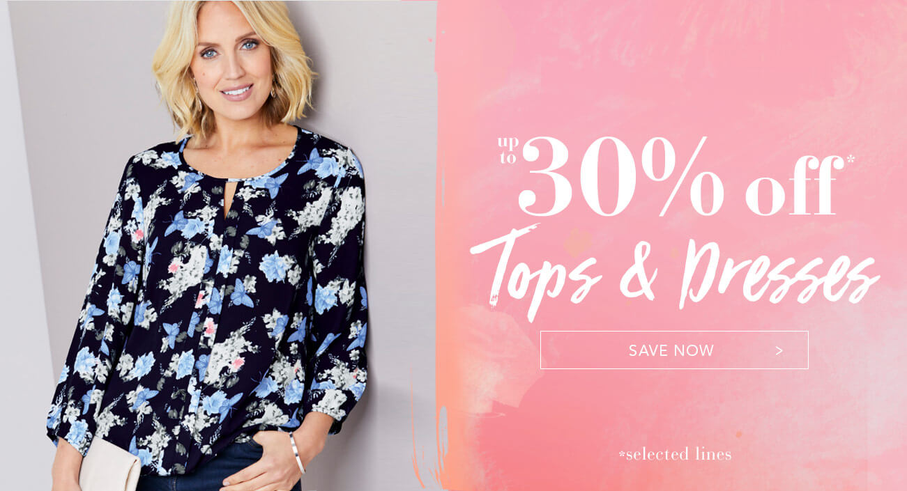 Up to 30% Off Tops and Dresses