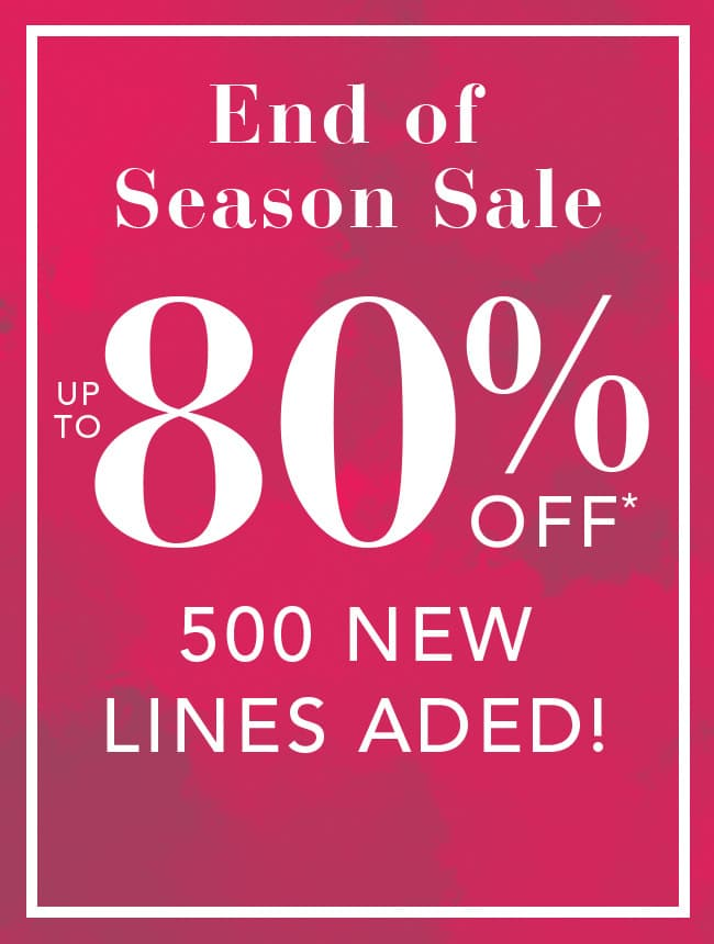 End of Season Sale, up to 50% off home and electricals